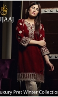 Embroidered Velvet Stitched Kurti
