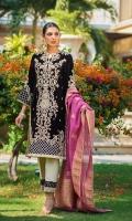 Handwork Embroidered Velvet Front Velvet Back Embroidered Velvet Sleeves Jacquard Dupatta Jacquard Trouser