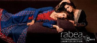 Rabea Designer Embroidered Linen Collection 2012