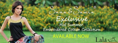 Sana Samia Mid Summer Embroidered Cotton Collection