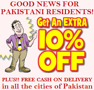 10% OFF  + Free Delivery for Pakistani Residents