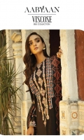 Sheesha Embroidered Jacquard Front Embroidered Jacquard Sleeves Embroidered Jacquard Shirt Back Digital Printed Jacquard Shawl Dyed Trouser Embroidered Borders 2 (Daman and Sleeves)