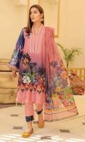 Embroidered Chikenkari Lawn Shirt Chiffon Dupata Dyed Trouser