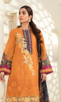 Printed Lawn Shirt Dyed Cambric Trouser Printed Chiffon Dupatta Embroiodered Organza Motif Embroidered Border Organza