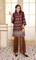 Embroidered Velvet Shirt Jamawar Trouser