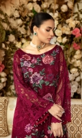 NET EMBROIDERED FRONT 0.8 MTREMBROIDERED MOTIFS FOT FRONT 5 PCNET EMBROIDERED BACK 0.8 MTREMBROIDERED BORDER FOR FRONT AND BACK 1.6 MTRNET EMBROIDERED SLEEVES 0.8 MTRNET EMBROIDERED DUPATTA 2...