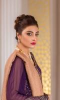 Hand Embellished Embroidered Chiffon FrontEmbroidered Chiffon BackEmbroidered Chiffon Sleeves Banarsi DupattaRaw Silk Trouser