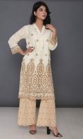 Embroidered Cotton Stitched Kurti