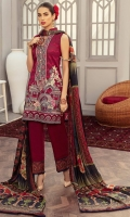 Shirt: - Digital Printed and Embroidered Lawn Dupatta: - Digital Printed and Embroidered Silk, Net, Chiffon, Organza Trouser: - Dyed with Embroidery