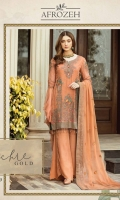 Embroidered Front: 0.75 Yards  Embroidered Front & Back Panel: 1.25 Yards  Embroidered Dupatta: 2.5 Yards  Embroidered Sleeves: 0.75 Yards  Front & Back With Embroidered Border: 2 Yards  Raw Silk Trouser: 2.5 Yards