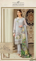 Embroidered Front: 0.75 Yards  Embroidered Front & Back Panel & Sleeves: 1.25 Yards  Printed Dupatta: 2.5 Yards  Front & Back With Embroidered Border: 2 Yards  Trouser With Embroidered Patch: 2 Yards  Sleeves With Embroidered Patch: 1  Yards Raw Silk Trouser: 2.5 Yards