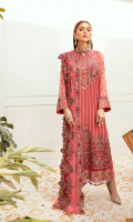 Front: 1 meter crinkle chiffon embroided  Back: 1 meter crinkle chiffon embroided  Sleeves: 0.75 crinkle chiffon embroided  Front/ Back border: 2 meter embroided  Back border:  1 meter embroided (option 2)  Front Patch: 1 meter grip embroided  Sleeves border: 2 meter grip embroided  Dupatta: 2.5 meter crinkle chiffon embroided  1-Dupatta border: 2.5 meter grip embroided  2-Dupatta border: 2.5 meter grip embroided  Trouser: 2.5 meter grip  YOU MAY ALSO LIKE RUBY FLAME RUBY FLAME Regular priceRs. 9,550 PRISTINE PEACOCK PRISTINE PEACOCK Regular priceRs. 9,550 BLACK BEAUTY BLACK BEAUTY Regular priceRs. 9,550 WHITE FLORENTINE WHITE FLORENTINE Regular priceRs. 9,550