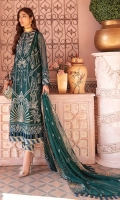 Front: (1 meter) crinkle chiffon embroidered Back: (1 meter) crinkle chiffon embroidered 1: Front/Back border: (2 meter) embroidered raw silk 2: Front/Back border: (2 meter) embroidered raw silk Sleeves: (0.75 yard) crinkle chiffon embroidered 1: Sleeves border: (1 meter) embroidered raw silk 2: Sleeves border: (1 meter) embroidered raw silk Dupatta: (2.5 yard) embroidered crinkle chiffon Trouser: (2.5 yard) raw silk Trouser Border: (1 meter) embroidered raw silk