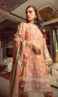 Embroidered Chiffon Front Embroidered Chiffon Back Embroidered Raw Silk Front and Back Hem (Border) (Pale Yellow) Embroidered Raw Silk Front and Back Hem (Border) (Light Blue) Embroidered Organza Neckline Finishing Embroidered Chiffon Sleeves Embroidered Organza Sleeve Patch Raw Silk Pants Digital Print Silk Dupatta