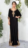 Look alluring and effortlessly chic in our black velvet embellished kaftan. *Shirt Length: 52