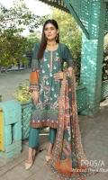 Embroidered Karandi Shirt Printed Wool Shawl Dyed Trouser