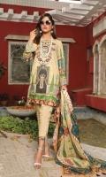 Digital Printed Lawn Shirt Front Embroidered Digital Print Voil Dupatta Cotton Trouser