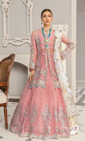 Net embroidered lehnga 12 panels Net embroidered front 1 yard Net embroidered back 1 yard Net embroidered sleeves 26