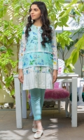 Digital printed lawn Shirt 3 .12 meters Dyed Cambric pants