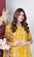 Dupatta: Printed Broshia Dupatta Fabric: Broshia  Trouser: Dyed Cambric Trouserss Fabric: Cambric