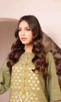 Shirt: Dobby Dyed Embroidered Shirt 3.12 Meters Embroidered Front And Sleeves Fabric: Dobby