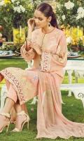 Shirt Embroidered Cotton Net Shirt Lawn Inner Fabric: Cotton Net  Dupatta Digital Printed Chiffon Dupatta Fabric: Silk  Trouser Cambric Trouser Fabric: Cambric