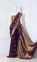 Saree Chiffon Jaal Anchal Zari