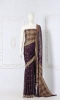 Embroidered Banarsi Chiffon Saree  Saree Chiffon Light Zari and Resham