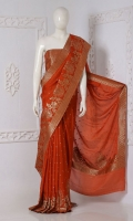 Embroidered Banarsi Chiffon Saree  Saree Chiffon Paisly Motifs Zari
