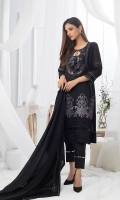 Shirt: Embroidered Shirt Dupatta: Embroidered Chiffon Dupatta Trouser: Dyed Trouser