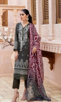 Shirt: Digital Printed Lawn Dupatta: Digital Printed Silk Trouser: Dyed Cambric  Embroidery Details: Front Thread Embroidered Shirt Embroidered Chikankari Border For Front