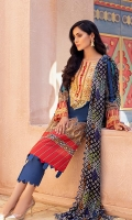 Shirt: Digital Printed Lawn Dupatta: Digital Printed Chiffon Trouser: Dyed Cambric  Embroidery Details: Thread Embroidered Gala on Shirt Thread Embroidered Border For Sleeves