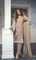Front and back Embroidery with tilla,  Extra side panels, Embroidered tilla sleeves,  Front and back patti, two side border dupatta