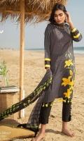 Digital Printed Lawn Shirt : 3.1 Meters Chiffon Dupatta : 2.54 Meters Dyed Cambric Pant : 2.54 Meters