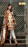 3pc Embroidered Lawn Suit With Lawn Dupatta
