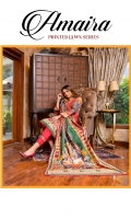 Shirt: - Digital Printed Lawn Dupatta: - Digital Printed Lawn Trouser: - Dyed Cambric