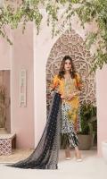 Trendy Unstitched Digital Print Lawn Colors Splendid Chiffon Digital Print Dupattas Plain Dyed Shalwar
