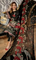 Embroidered Lawn Front Embroidered Lawn Back Embroidered Lawn Sleeves Embroidered Chiffon Dupatta