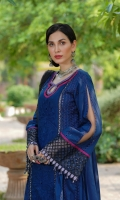Schiffli Embroidered Lawn Front & Side Panel Lawn Back & Sleeves Embroidered Net Dupatta Front Border Patti Sleeves Border Patti Embroidered Neckline Embroidered Connector Patti Dupatta Patti Plain Cambric Trouser