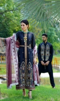 Embroidered Lawn Front Lawn Back & Sleeves Foil Printed Net Dupatta Front & Back Border Patti Sleeves Embroidered Patti Embroidered Center Patti Plain Cambric Trouser