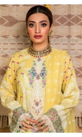 Screen Printed Lawn Shirt Embroidered Neckline Embroidered Daman Border Embroidered Sleeve Border Cambric Cotton Trouser Puff Paste Printed Chiffon Dupatta Puff Paste Printed Dupatta Border