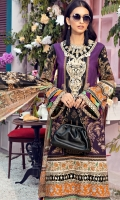 Digital Printed Lawn Shirt Embroidered Neckline Embroidered Front Daman Border 01 Embroidered Front Daman Border 02 Embroidered Sleeve Border Embroidered Trouser Motif Embroidered Trouser Border Cambric Cotton Trouser Digital Printed Chiffon Dupatta