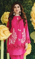 Chic, semi-formal kameez embellished with lace and embroidery.