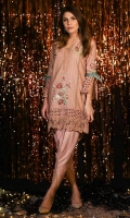 Chic, semi-formal straight kameez embellished with laces and embroidery.