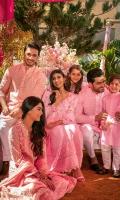 Taffy pink schiffli kurta with shalwar.