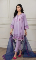 Shirt & Dupatta Shirt Material: Lawn Dupatta Material: Organza Ready to Wear Embroidery