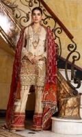Three Piece Embroidered Chiffon Suit
