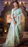 Embroidered saree all-over 6.5 meter Embroidered blouse front and back (W =26