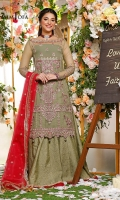 SHIRT: Organza LEHENGA: Jacquard Cotton silk DUPATTA : Organza  DISCLAIMER * Laces are subject to market availability. * The actual colors of the outfit may vary from the colors being displayed on your device.