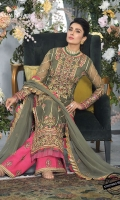 Embroidered Organza Suits Unstitched 3 Piece